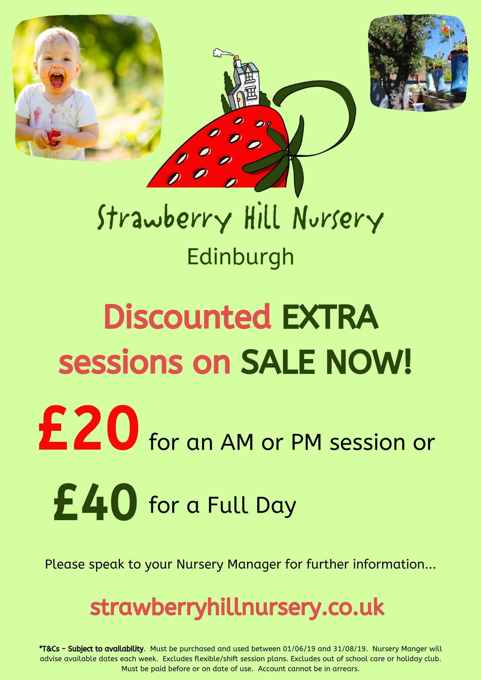 discounted extra nursery sessions